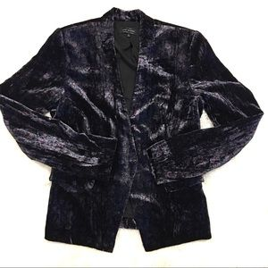 Lucky Brand Women's Floral Patterned Velvet Blazer